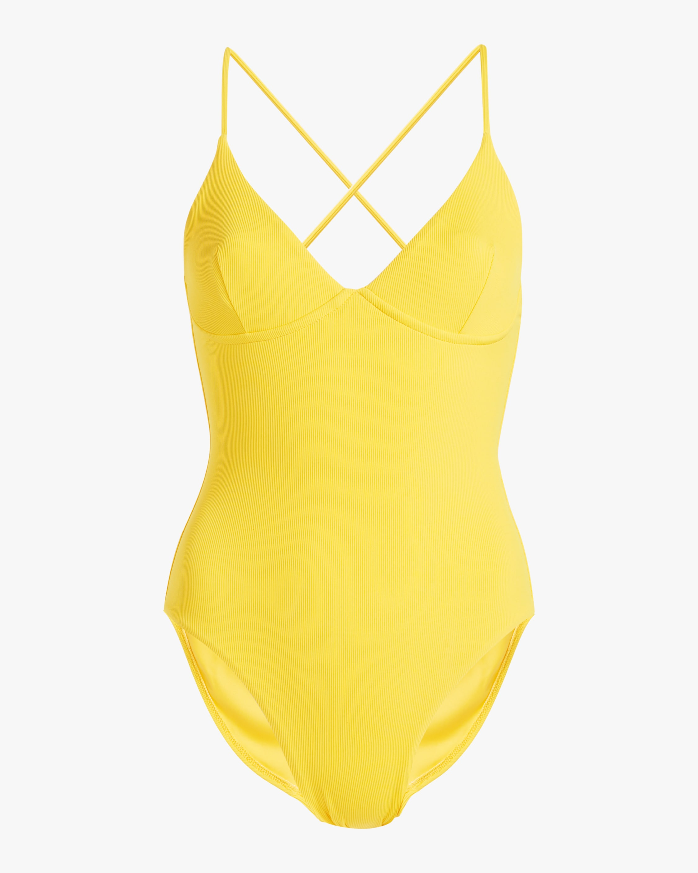 Les Girls Les Boys RIB UNDERWIRED ONE PIECE SWIMSUIT