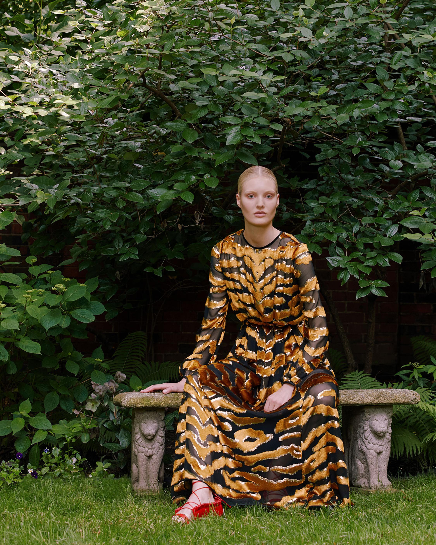 Pleated Waist Velvet Gown