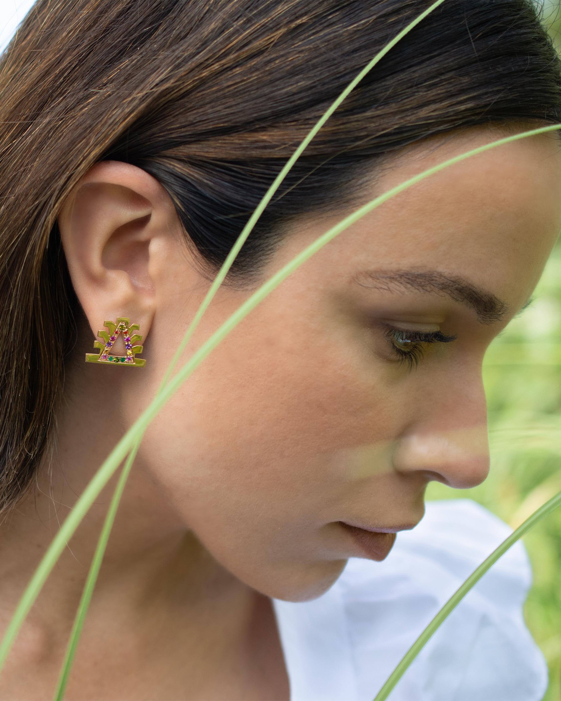 Millapani Lukutuwe Arcoiris Stud Earrings 2