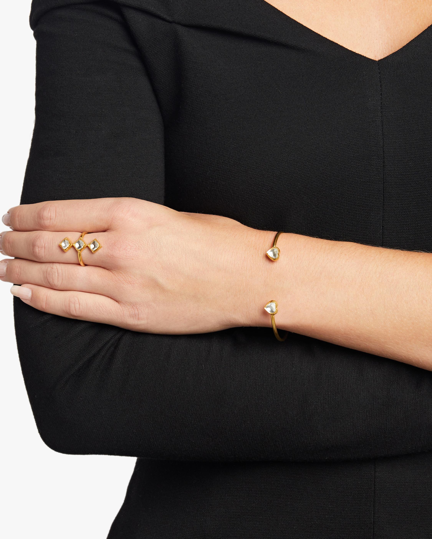 Legend Amrapali Kundan Diamond Heart Cuff Bracelet 1