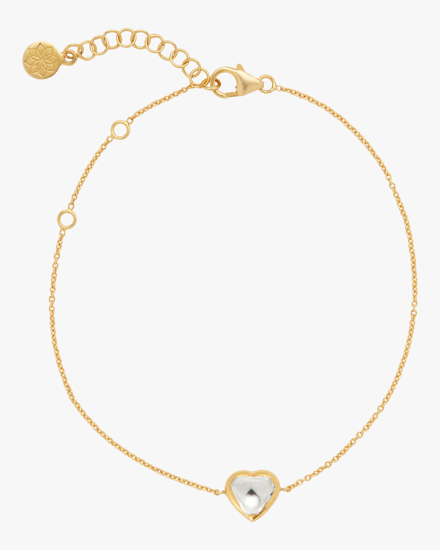 Kundan Vintage Diamond Heart Fine Chain Bracelet