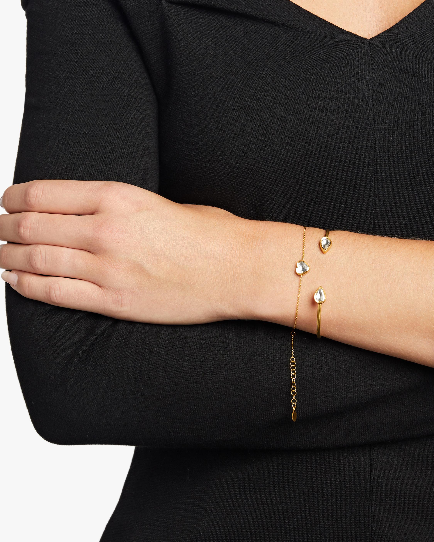 Legend Amrapali Kundan Vintage Diamond Heart Fine Chain Bracelet 2