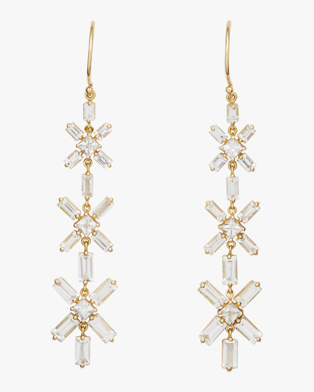 Legend Amrapali Gemstone Mosaic Baguette Square Star Drop Earrings 0
