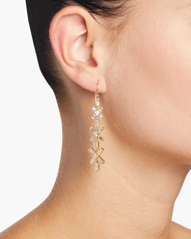Legend Amrapali Gemstone Mosaic Baguette Square Star Drop Earrings 2