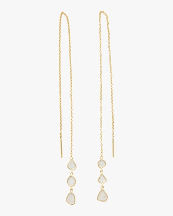 Legend Amrapali Polki Diamond Slice Triple Drop Chain Earrings 1