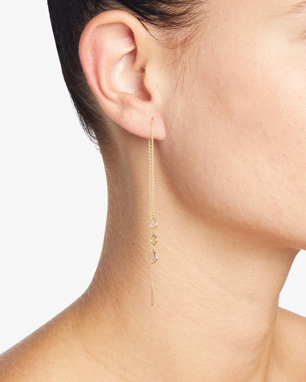 Legend Amrapali Polki Diamond Slice Triple Drop Chain Earrings 1