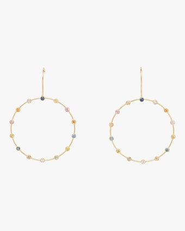 Tarakini Diamond & Sapphire Hoop Earrings