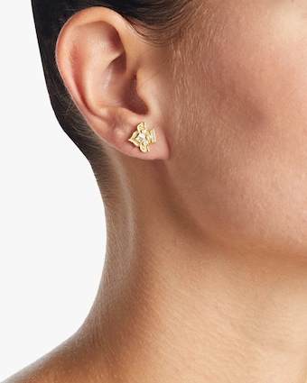 Heritage Fleur Stud Earrings
