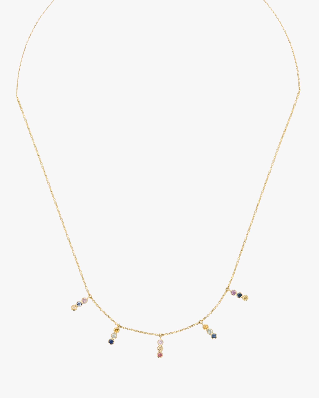 Tarakini Diamond & Rainbow Sapphire Charm Necklace
