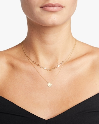 Polki Diamond Slice Necklace