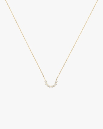 Tarakini Diamond Curved Bar Pendant Necklace