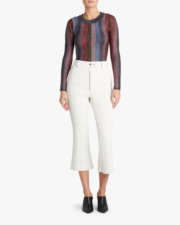 Tasya Marled Stripe Metallic Bodysuit