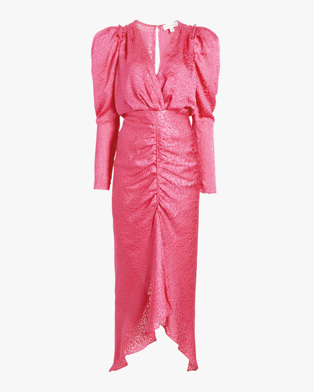 Astrid Leopard Burnout Midi Dress