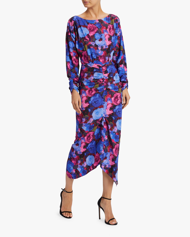 Emilia Painterly Floral Midi Dress