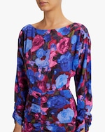 Ronny Kobo Emilia Painterly Floral Midi Dress 3