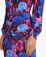 Ronny Kobo Emilia Painterly Floral Midi Dress 4