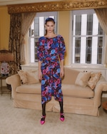 Ronny Kobo Emilia Painterly Floral Midi Dress 5