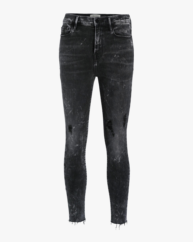 Ali High-Rise Raw Edge Cigarette Jeans
