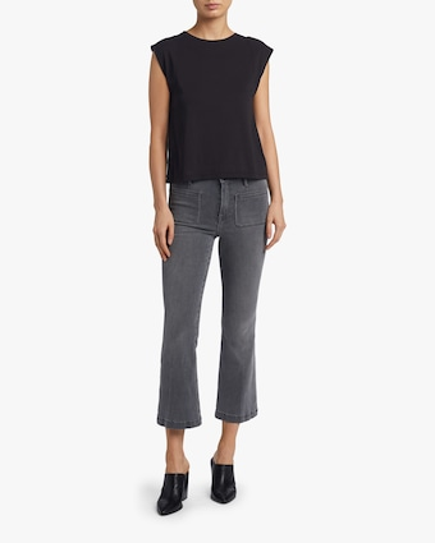 Le Bardot Crop Flare Jeans