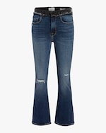 Frame Le Cropped Mini Boot Block Frayed Jeans 0