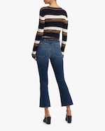 Frame Le Cropped Mini Boot Block Frayed Jeans 2
