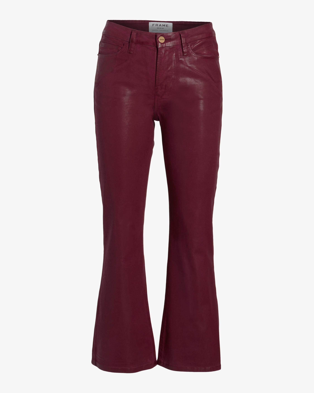 Le Cropped Mini Boot Coated Jeans
