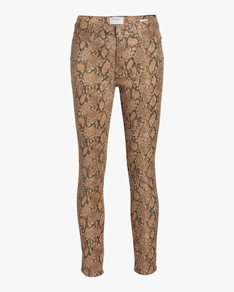 Le High Skinny Crop Coated Jeans