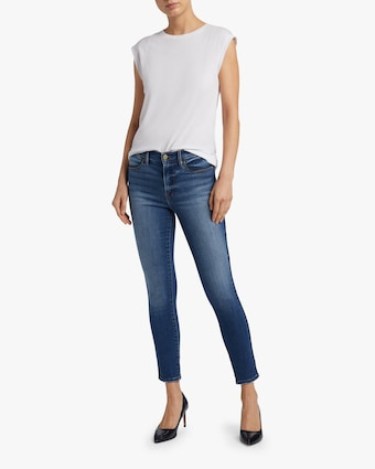 Le High Skinny Tux Piping Jeans