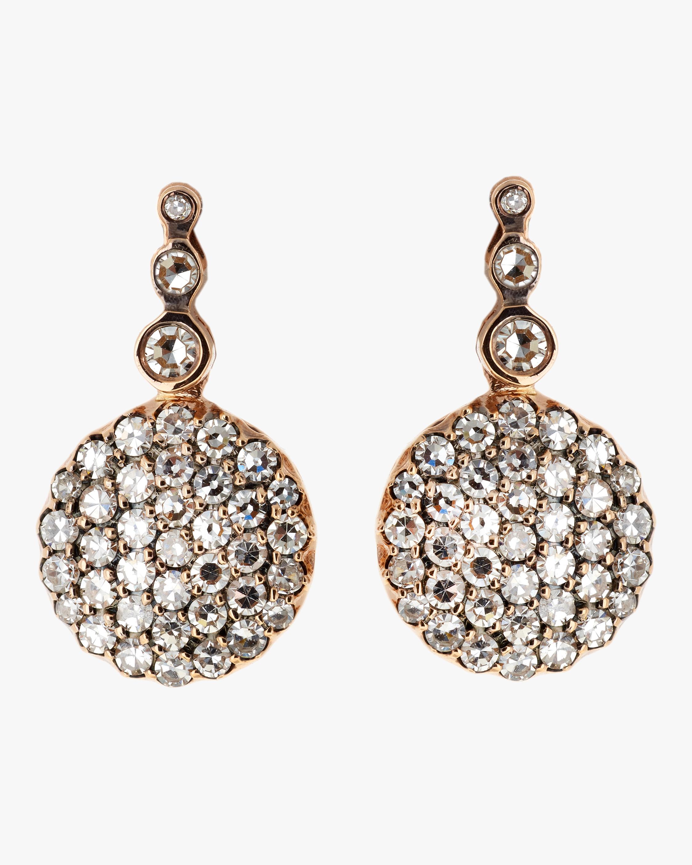 Selim Mouzannar Diamond Round Drop Earrings 1
