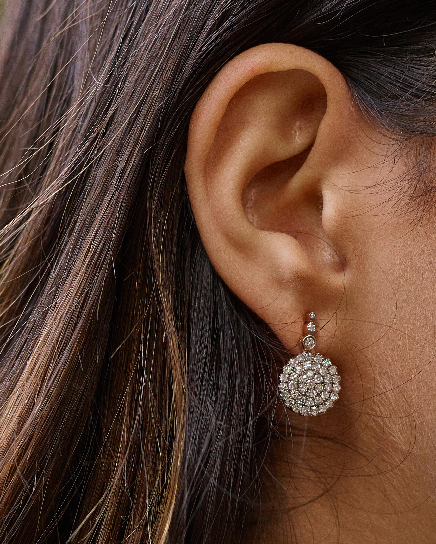 Selim Mouzannar Diamond Round Drop Earrings 2