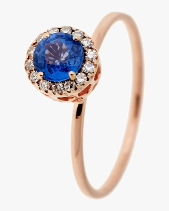 Diamonds and Sapphire Ring