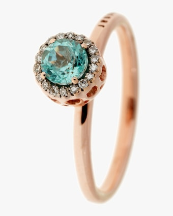 Diamond and Paraiba Ring