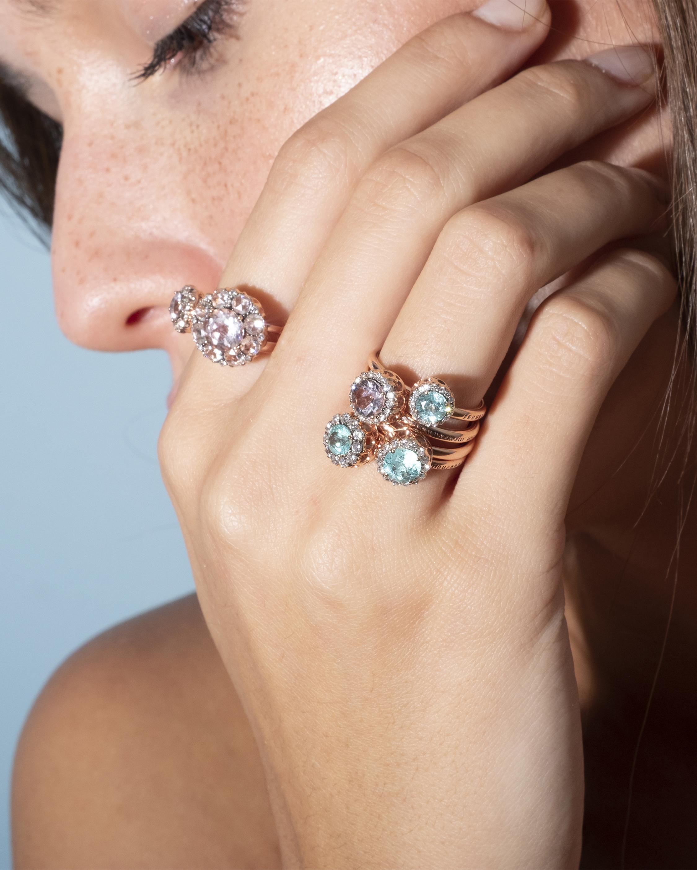 Selim Mouzannar Diamond and Paraiba Ring 1