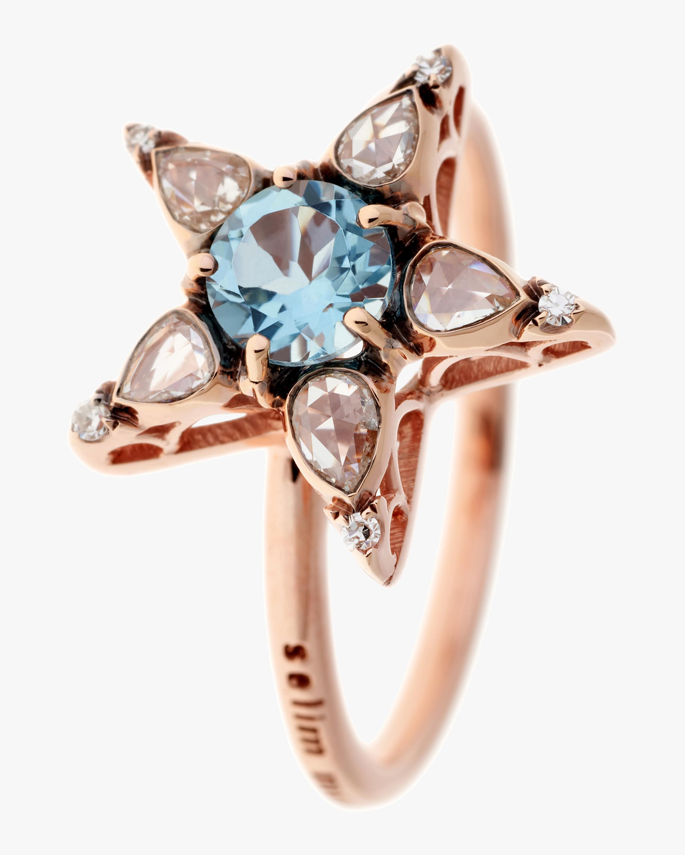 Selim Mouzannar Diamond & Aquamarine Star Ring 0
