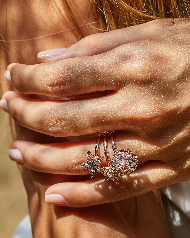 Selim Mouzannar Diamond & Aquamarine Star Ring 1