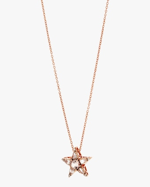Diamond and Morganite Pendant Necklace