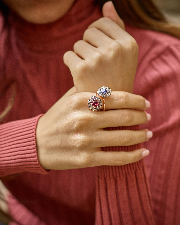 Selim Mouzannar Diamond and Rhodolite Ring 1
