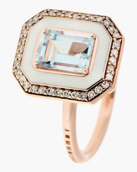 Selim Mouzannar Diamond and Aquamarine Ring 0