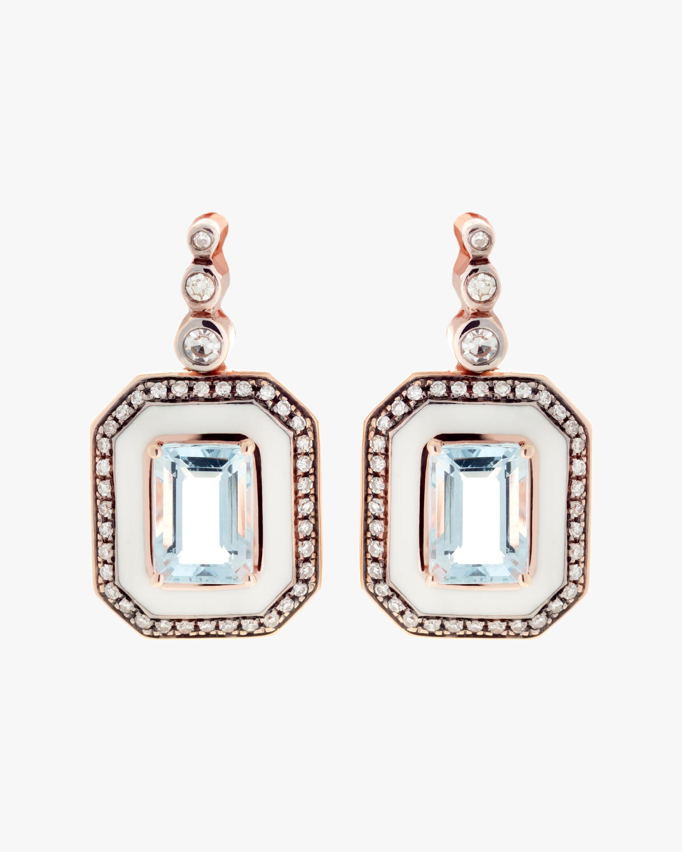 Selim Mouzannar Diamond and Aquamarine Earrings 0
