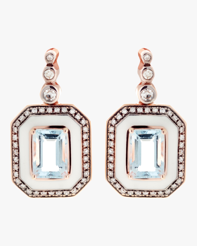 Diamond and Aquamarine Earrings