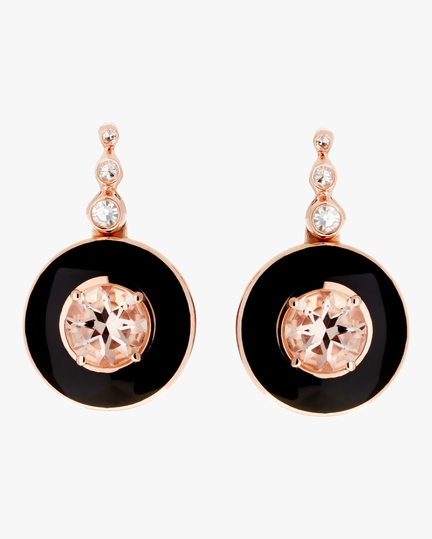 Selim Mouzannar Enamel, Diamond and Morganite Earrings 0