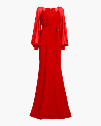 Badgley Mischka Long Sleeve Gown 1
