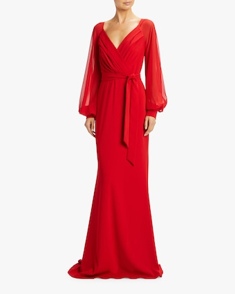 Badgley Mischka Long Sleeve Gown 2