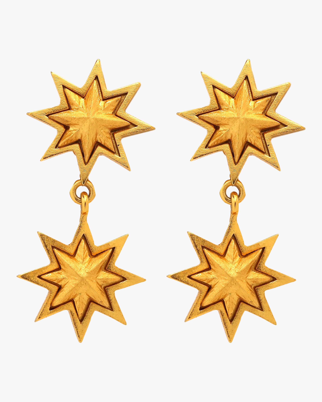 Sunburst Double Earrings