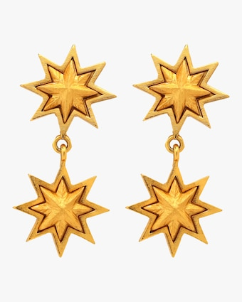 Sunburst Double Earrings