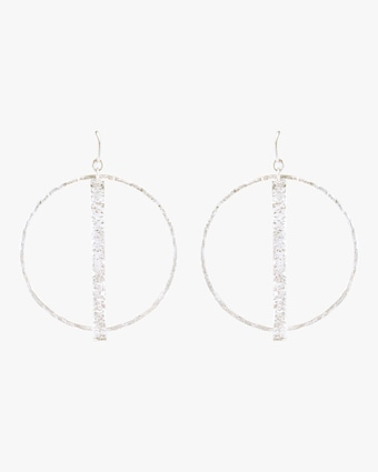 Column Round Earrings