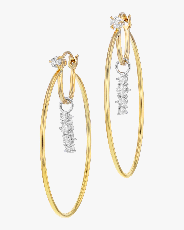 Enchanted Drop Hoop Earrings