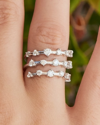 Diamond Layer Wrap Ring