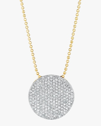 Large Diamond Infinity Necklace