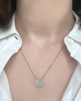 Medium Diamond Infinity Necklace